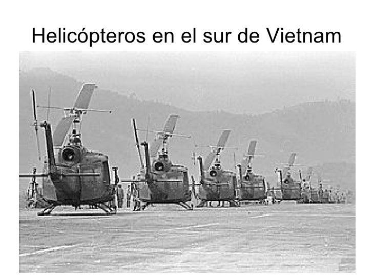 Helicópteros en el sur de Vietnam