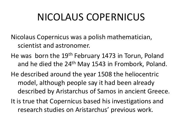 Heliocentric Model And Copernicus