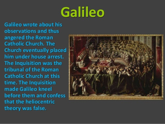 galileo vs church The catholic church and scientists have a history of  one of the most famous examples of the clash between religion and science is the trial of galileo galilei.