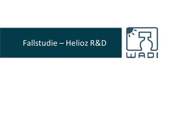 Fallstudie – Helioz R&D