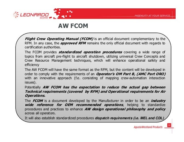 fcom flight crew operating manual