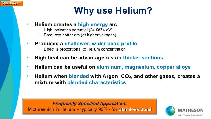 Eliminate the Use of Helium for GTAW on Stainless Steel - QuickView