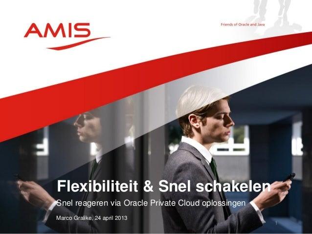 Snel reageren via Oracle Private Cloud oplossingenMarco Gralike, 24 april 2013Flexibiliteit & Snel schakelen1