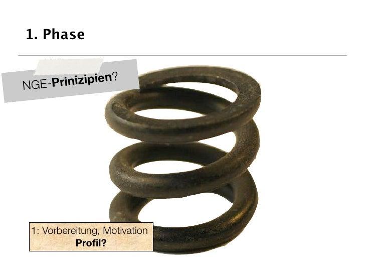 1. Phase                 ? NGE-Prinizipien      1: Vorbereitung, Motivation            Profil?