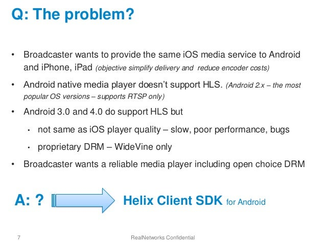 Helix HLS and MPEG-DASH SDK for Android