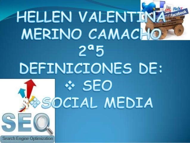 El SEO corresponde a las siglas de Search Engine Optimization. El Posicionamiento SEO es laoptimización del sitio web de s...