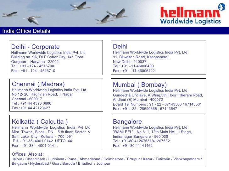 Hellmann India August 2009