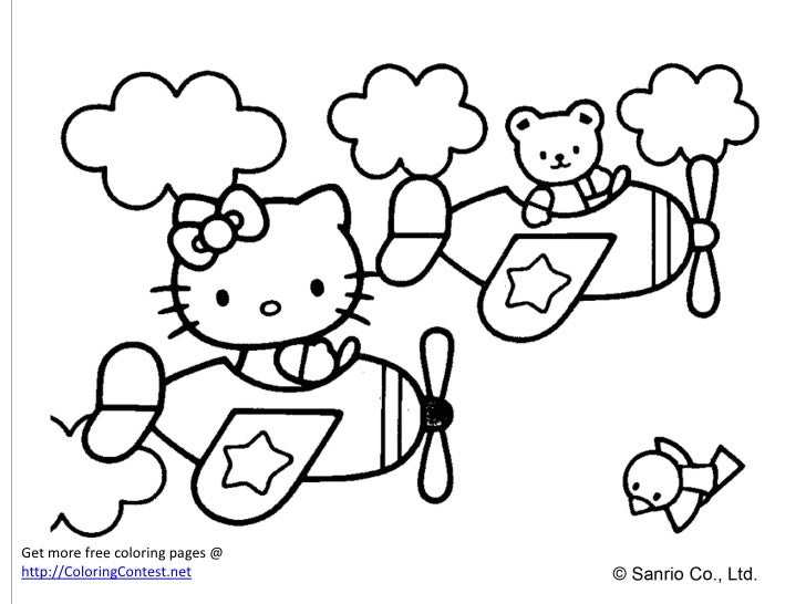 25 30 Helloo: Free Hello Kitty Coloring Book