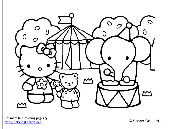 smart hello kitty coloring pages-#22