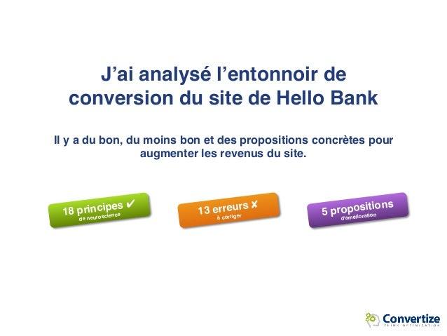 [Hello bank] 9 Principes de Neuromarketing utilisés par Hello bank pour optimiser ses taux de conversion Slide 2