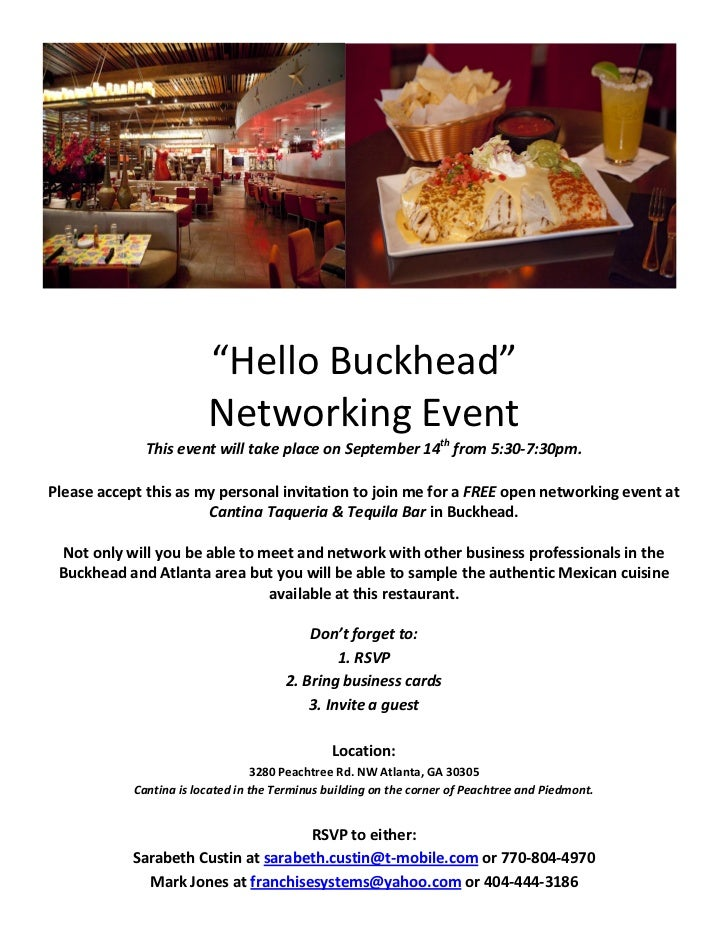 Hello Buckhead Networking Event