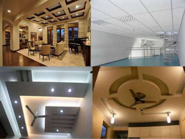 Suspended ceilings – Advantages  Low cost  Fast installation  Sound control  Flexible  Adaptability of lighting and m...