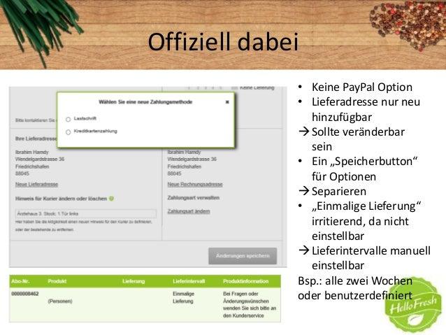 """Offiziell dabei• Keine PayPal Option• Lieferadresse nur neuhinzufügbarSollte veränderbarsein• Ein """"Speicherbutton""""für Opt..."""