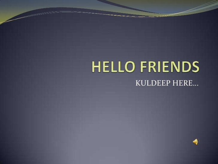 KULDEEP HERE…