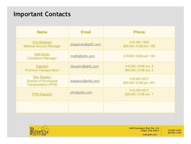 419.861.3430 800.661.3166 5445 Southwyck Blvd. Ste. 210 Toledo, Ohio 43614 www.ptlllc.com __________ Name Email Phone Eric...