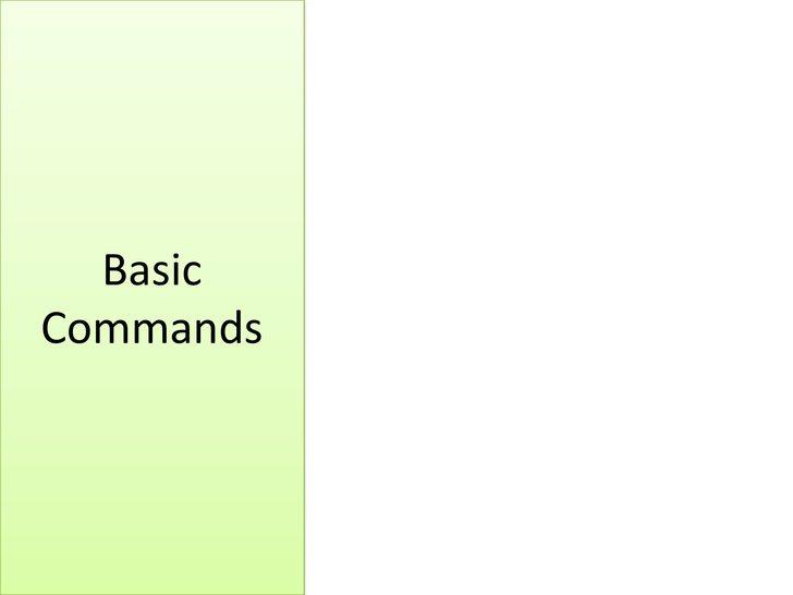 BasicCommands