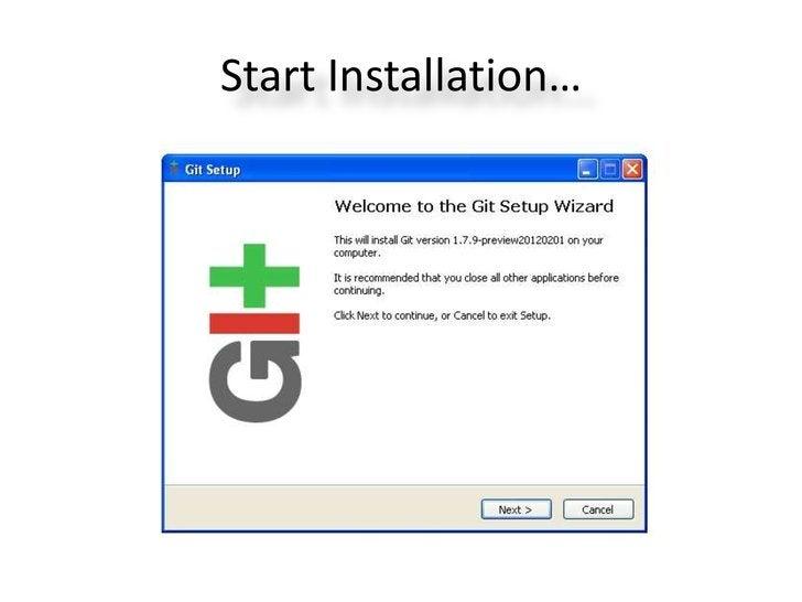 Start Installation…