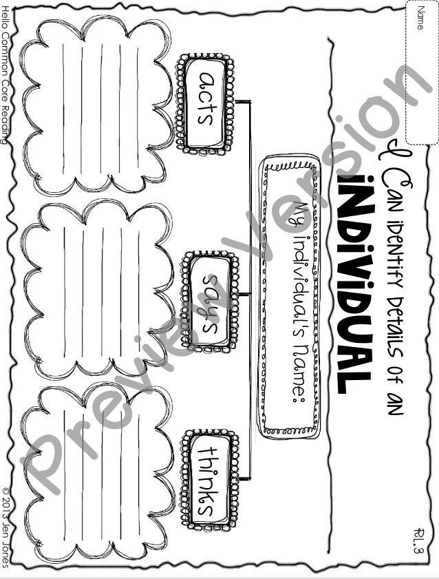 individual RL.3Name: ©2013JenJones ICanidentifydetailsofan MyIndividual'sName: actssaysthinks HelloCommonCoreReading