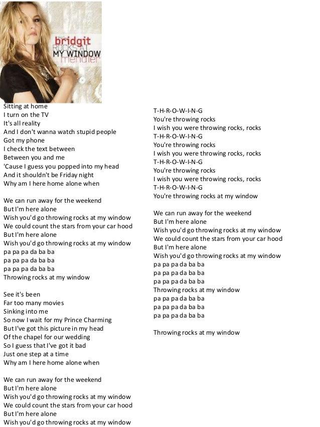 Hello my name is Bridgit Mendler lyrics