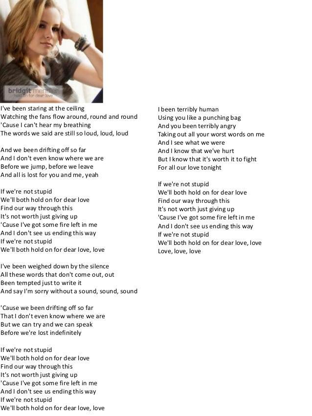 Dont think lyrics