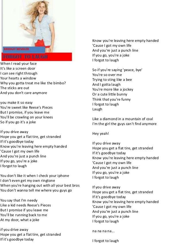 Lyric if you go away lyrics : Hello my name is Bridgit Mendler lyrics