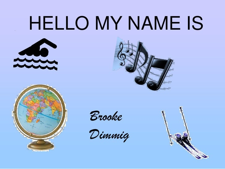 hello my name is chords pdf