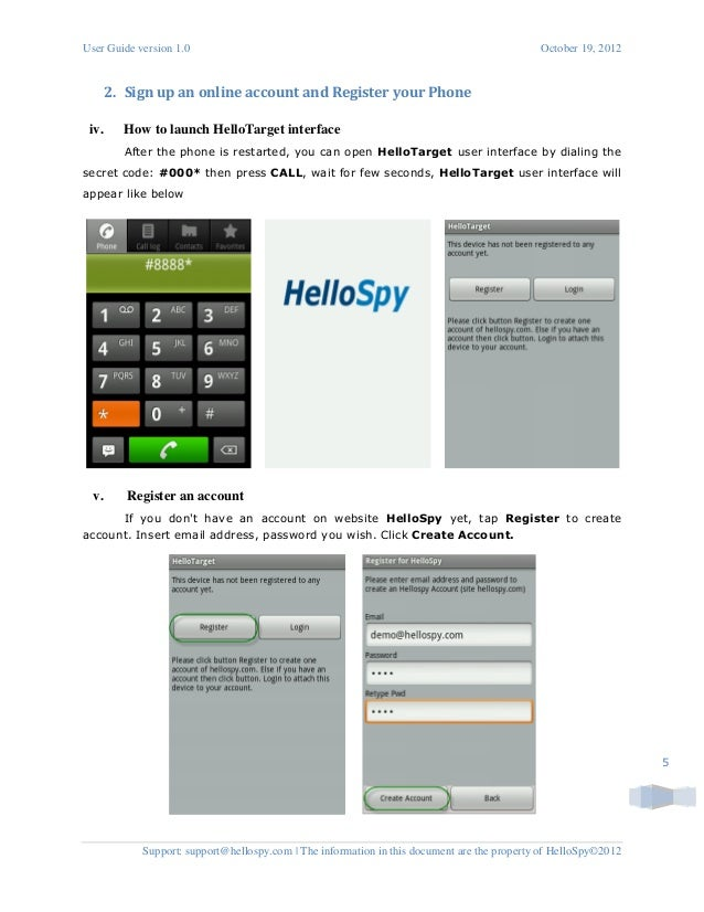 Best Cell Phone Spyware - HelloSpy installation on Android phone