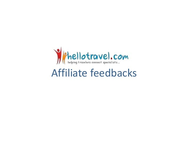 Affiliate feedbacks
