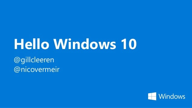 Hello windows 10