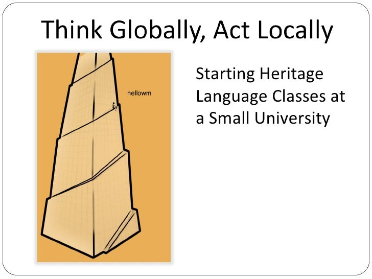 Starting Heritage Language Classes at a Small University Daniela Schiano di Cola [email_address] First International Herit...