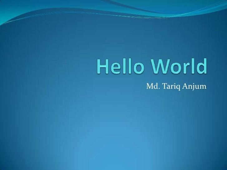 Md. Tariq Anjum