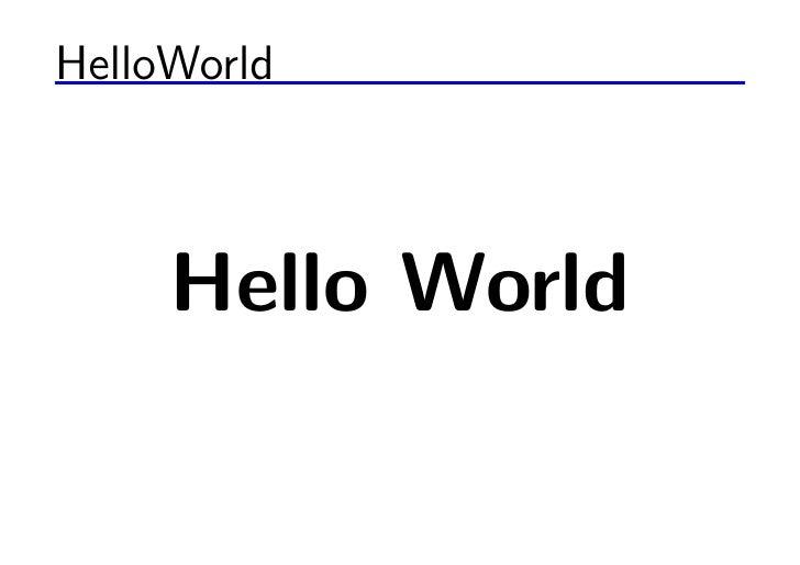 HelloWorld         Hello World