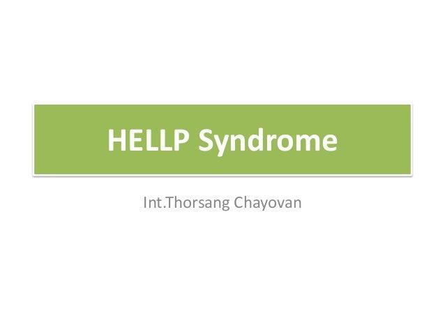 HELLP Syndrome Int.Thorsang Chayovan