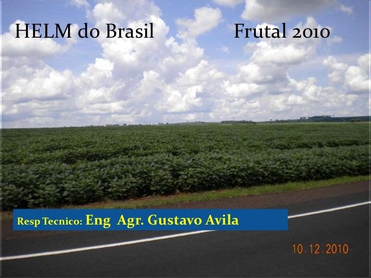 HELM do BrasilFrutal 2010<br />RespTecnico: EngAgr.Gustavo Avila<br />