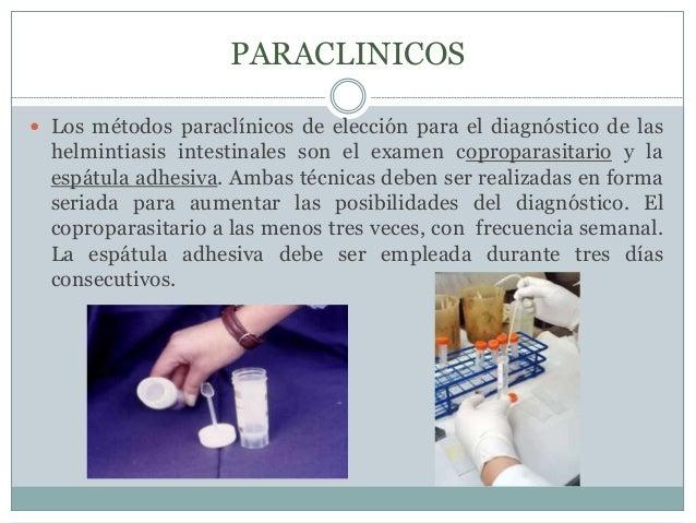 DIAGNOSTICO   El diagnóstico de las infecciones intestinales por helmintos  muchas veces es posible mediante la observaci...