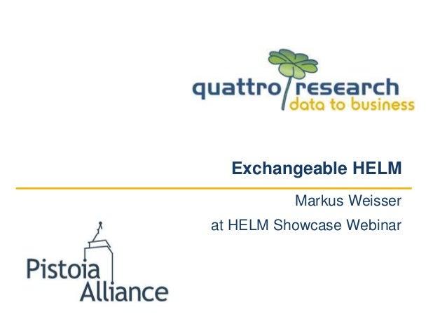 Exchangeable HELM Markus Weisser at HELM Showcase Webinar