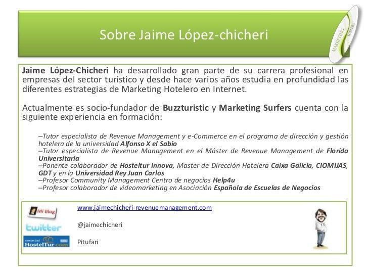 Sobre Jaime López-chicheri<br />Jaime López-Chicheri ha desarrollado gran parte de su carrera profesional en empresas del ...