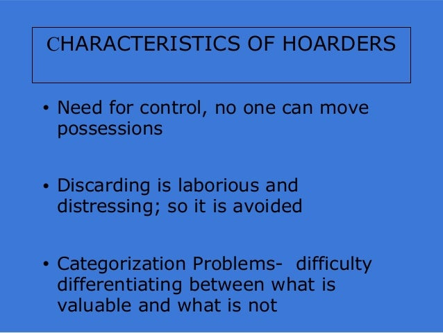 what is a hoarder personality