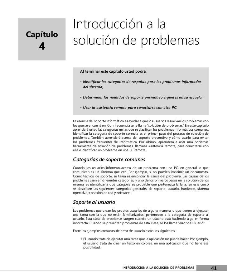 Introducción a laCapítulo   4       solución de problemas               Al terminar este capítulo usted podrá:            ...