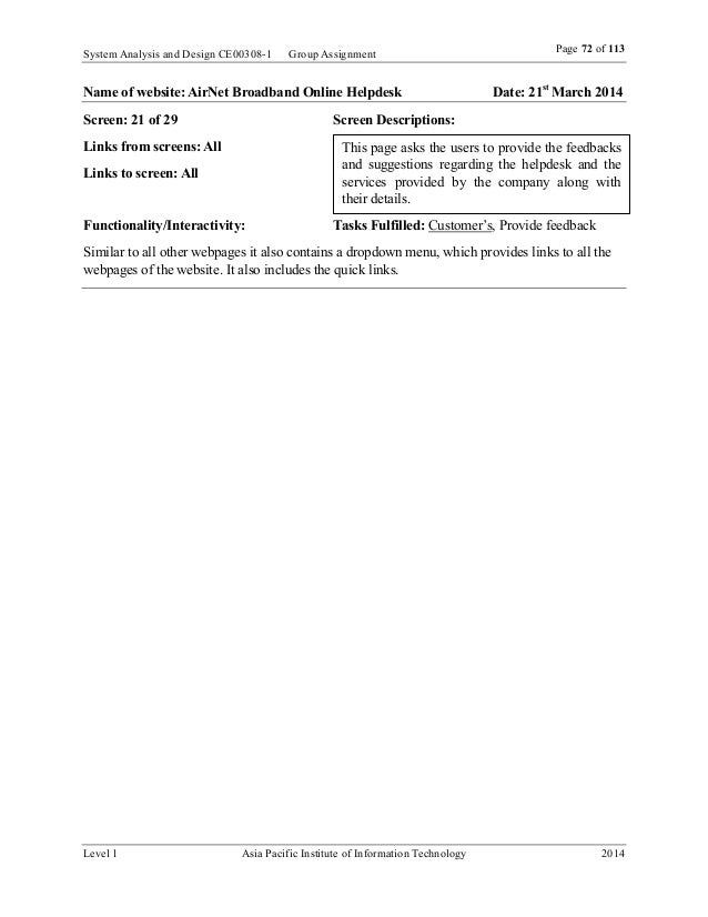 System Analysis And Design Assignment Pdf