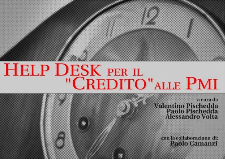 Help desk per il credito alle PMI