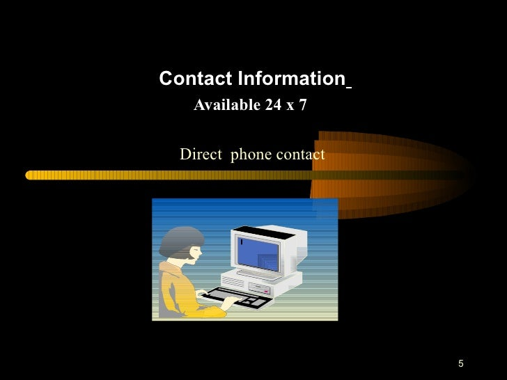 Help desk presentation slides
