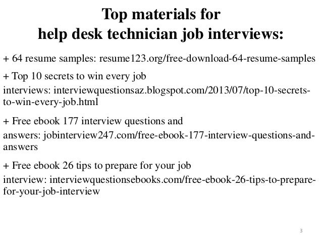 Help Desk Technician Resume Sample Pdf Ebook