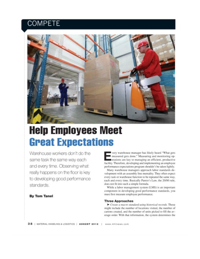 Help employees meet great expectations -mh&l august 2012