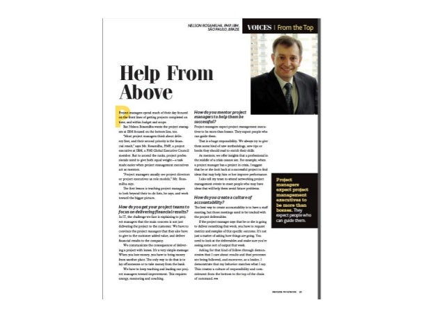Project Management Network - Help From Above - Interview