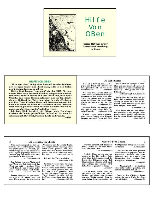 """HILFE VON OBEN""""Hilfe von oben"""" bringt eine Auswahl aus den Büchernder Heiligen Schrift und dient dazu, Hilfe in den Nötend..."""