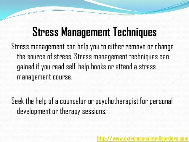 An overview of stress stressors and stress management techniques