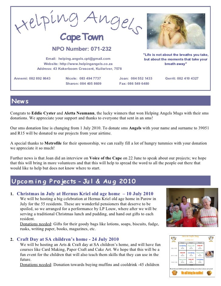 Cape Town                          NPO Number: 071-232                                                                    ...