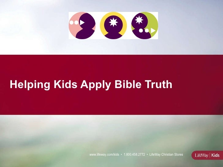 Helping Kids Apply Bible Truth