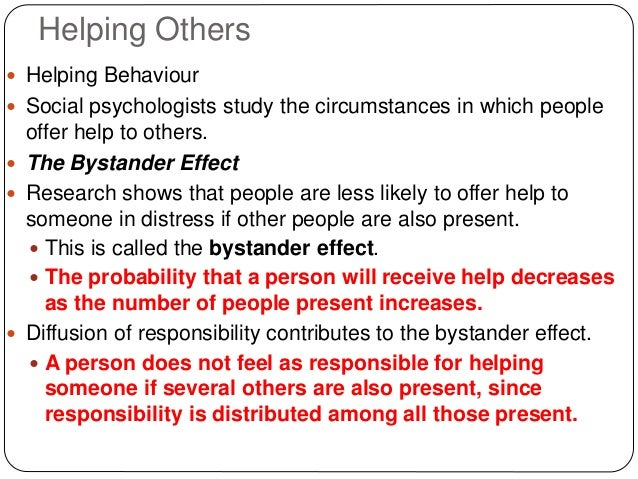 The Bystander Effect: Reactions and Causes